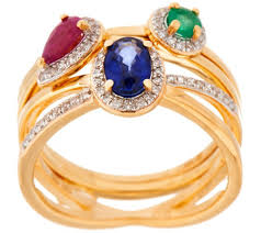 ruby emerald rings images Emerald sapphire and ruby stack rings sterling silver page 1 001