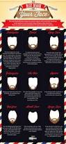the best type of beard for your face face infographic and beard