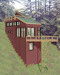 hillside home plans extremely creative small house plans on a slope 5 steep hillside