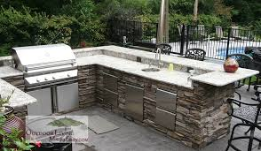 Outdoor Kitchen Backsplash by Custom Built Outdoor Kitchens 2012 L Shape Kitchen With