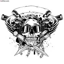 gun and skull designs pictures to pin on tattooskid