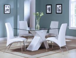 Acme Furniture Dining Room Set Pervis 5pc White Dining Set 71105