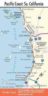 Southern Mexico Map by Pacific Coast Highway Road Trip Usa