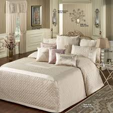 Ivory Quilted Bedspread Silk Allure Fawn Tailored Oversized Quilted Bedspread Bedding