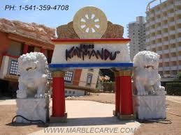 foo fu dog fu dog marble sculpture foo dog temple lion fudogs statue cn1189