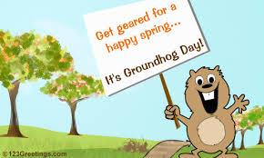 groundhog day happy wish free groundhog day ecards greeting