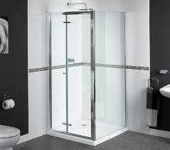 Bifold Shower Door Shine Bifold Shower Door 900mm Polished Silver Fen0900aqu