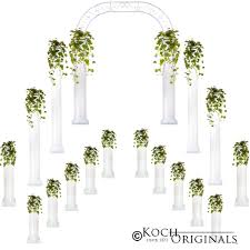 wedding arches and columns complete wedding package columns wedding arch