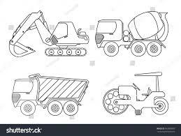 truck coloring book kids vector illustration stock vector