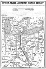 Toledo Map The Detroit Toledo U0026 Ironton Rr System Map