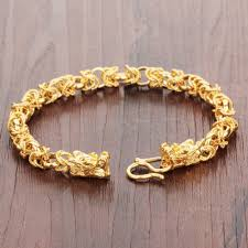 gold man bracelet images Opk retro hollow out charm gold color man bracelets vintage dragon jpg
