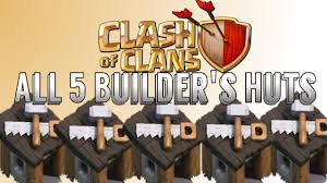 how to get all 5 builder u0027s huts free in clash of clans youtube