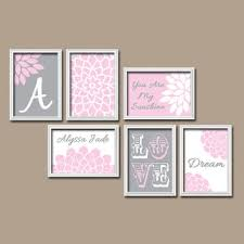 Pink And Brown Nursery Wall Decor Best Pink And Gray Nursery Sets Products On Wanelo