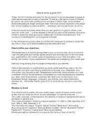 How To Write A Resume For A Job Proper Way To Write A Resume Cbshow Co