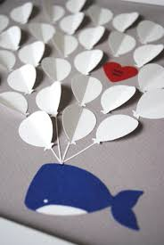 baby shower guest book alternative 3d balloons and baby whale