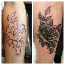 rose tattoo black and whitedenenasvalencia