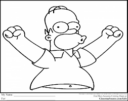 outstanding homer simpson coloring pages simpsons coloring