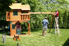 Backyard Swing Sets Canada Exterior Interesting Landscape Design With Cedar Summit Playset