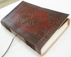 leather bound photo book handmade leather bound book of shadows blank journal vintage diary