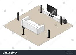 home theater projector setup 61 home theatre setupwith subwoofer centre stock vector 113481463