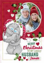 personalised cards for husband christmas moonpig