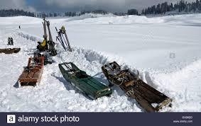 india kashmir gulmark himalayan ski resort toboggans used to