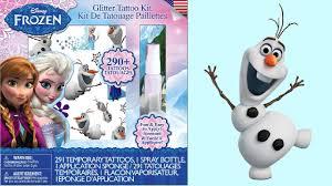 frozen glitter tattoo kit unboxing queen elsa princess anna