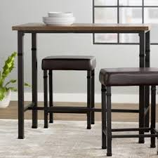 high bar table and chairs high bar table set wayfair