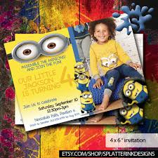 minions birthday invitations minions invite boys birthday
