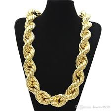 golden rope necklace images 2018 hip hop oversize rope chain men 39 s gold 3cm 100cm 36inch chain jpg