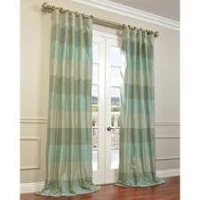 Teal Taffeta Curtains Eff Aqua Teal Silver Faux Silk Taffeta Iridescence Curtain Panel
