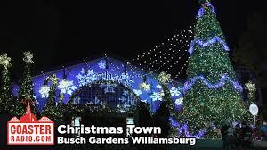 christmas town at busch gardens williamsburg youtube