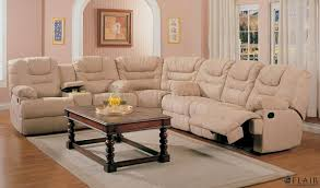 Brown Leather Sectional Sofa Living Room Leather Sectional Sofas With Recliners Dark Brown