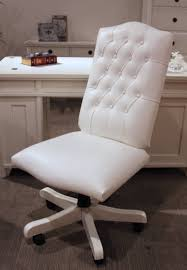 pleasant design ideas white tufted office chair marvelous