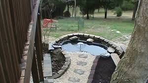 Retention Pond In Backyard How To Install A Raised Koi Pond With Water Course Retaining Wall