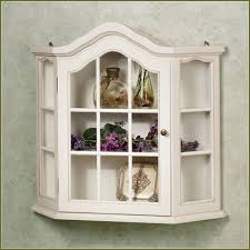 curio cabinet vintage wood small curioinet distressed white