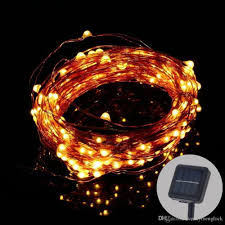 Orange Solar String Lights by 2017 Solar Powered Copper Wire String Light 15m Starry String
