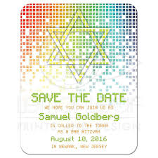 digital save the date bar mitzvah save the date announcement gamer gaming pixel