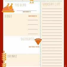 menu planner thanksgiving template festival collections