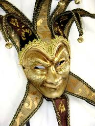 mardi gras joker paper mache venetian jester mask joker costume masks