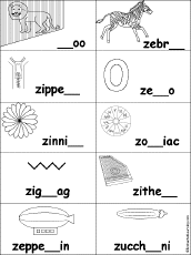 letter z alphabet activities at enchantedlearning com