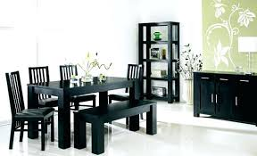modern dining room sets contemporary dining room sets with benches dining room black