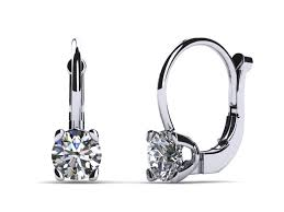 leverback diamond earrings platinum leverback 1 carat earrings build your own