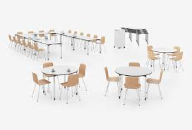 Vitra Meeting Table Contemporary Conference Table Maple Rectangular Modular