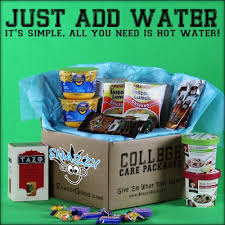 college care package just add water care package bead it cheese ramen