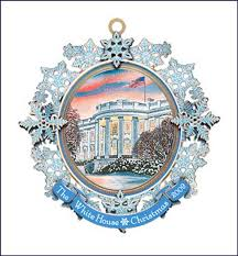 white house ornament 2009