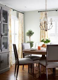 Striped Yellow Curtains Austin Striped Yellow Curtains Dining Room Traditional With Wood