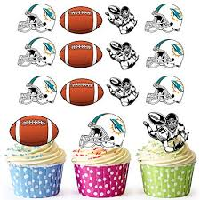 akgifts american football nfl cupcake toppers cake decorations