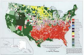 State By State Map Of Usa by Leading Religious Denominations In The Usa 1950 Map Usa