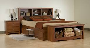 useful king size platform bed frame with storage
